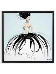 Couture Gems - Illustration - Canvas Gallery Print - Unframed or Framed - Tiffany La Belle