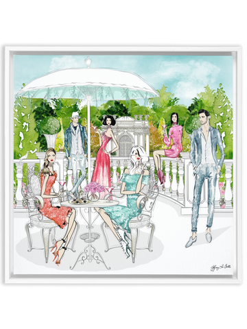 Garden Party - Illustration - Canvas Gallery Print - Unframed or Framed - Tiffany La Belle