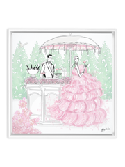 Giambattista Valli Cocktail Couture - Illustration - Canvas Gallery Print - Unframed or Framed - Tiffany La Belle