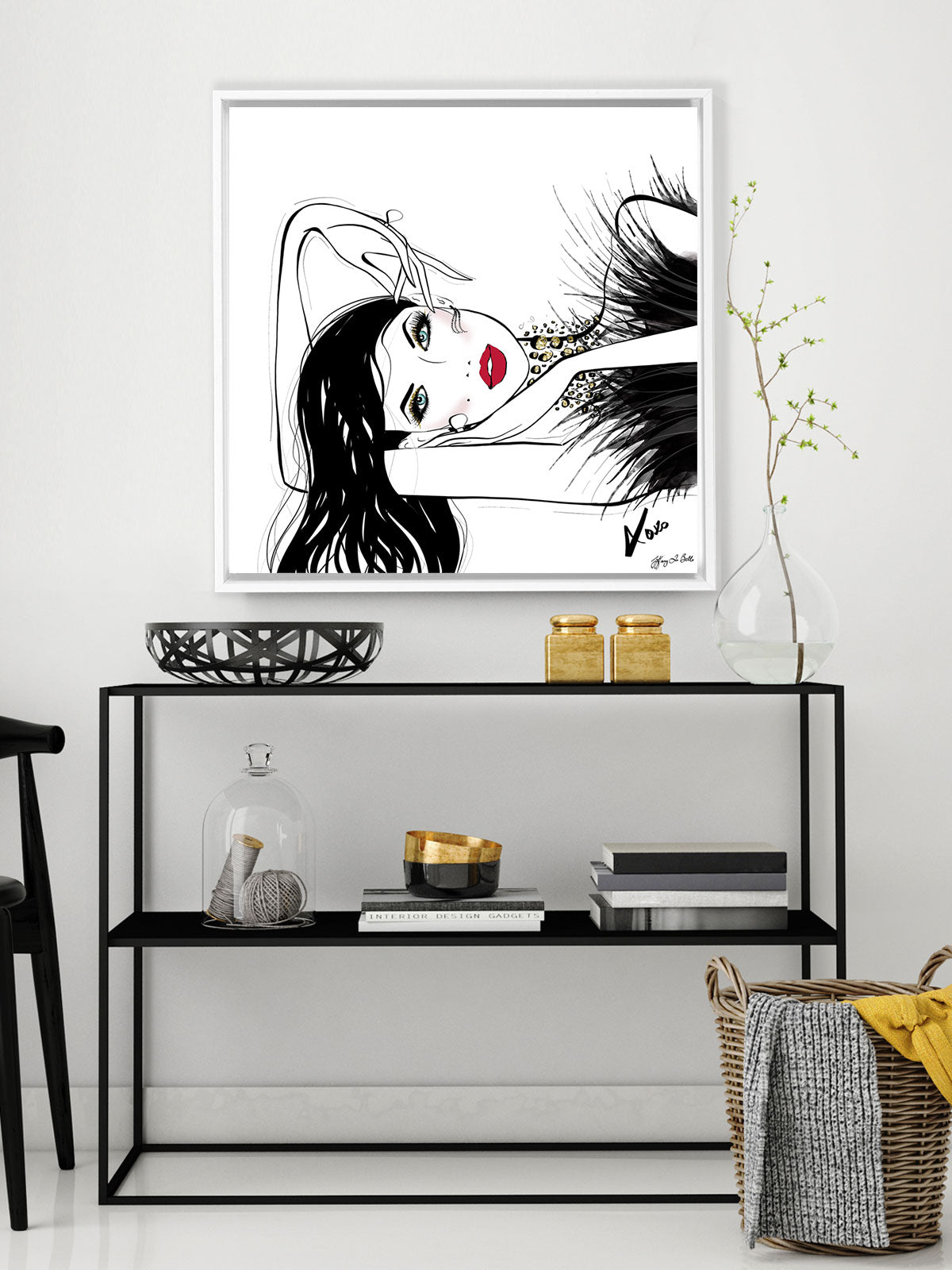 A Peaceful Moment - Illustration - Canvas Gallery Print - Unframed or Framed - Tiffany La Belle