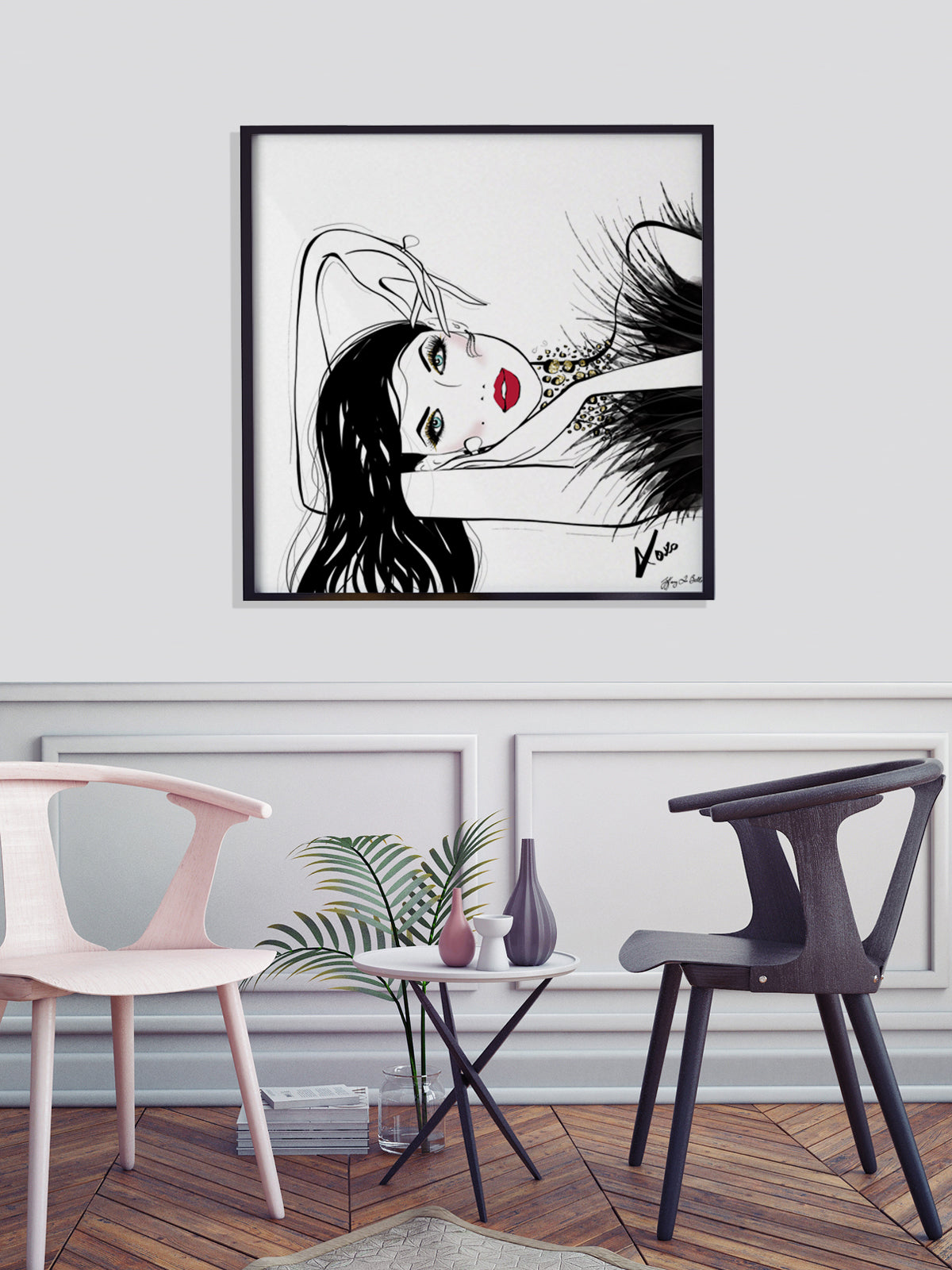 A Peaceful Moment - Illustration - Limited Edition Print - Tiffany La Belle