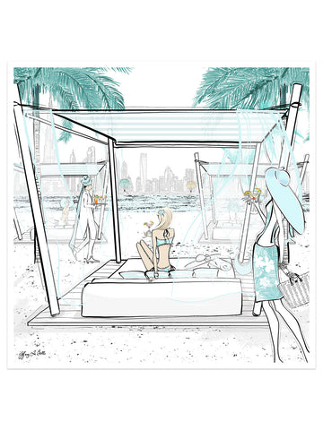 Beach Life Dubai - Illustration - Limited Edition Print - Tiffany La Belle