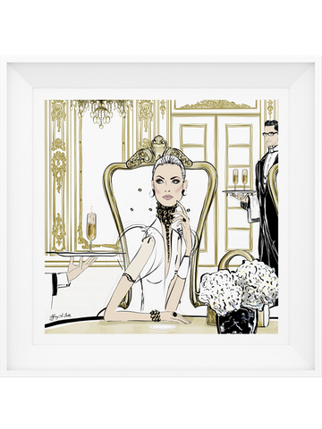 Champagne Dining - Illustration - Limited Edition Print