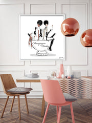 Champagne Friday - Illustration - Canvas Gallery Print - Unframed or Framed - Tiffany La Belle