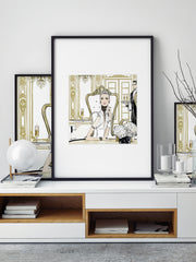 Champagne Dining - Illustration - Limited Edition Print - Tiffany La Belle