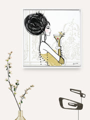 Cocktail Hour - Illustration - Canvas Gallery Print - Unframed or Framed - Tiffany La Belle