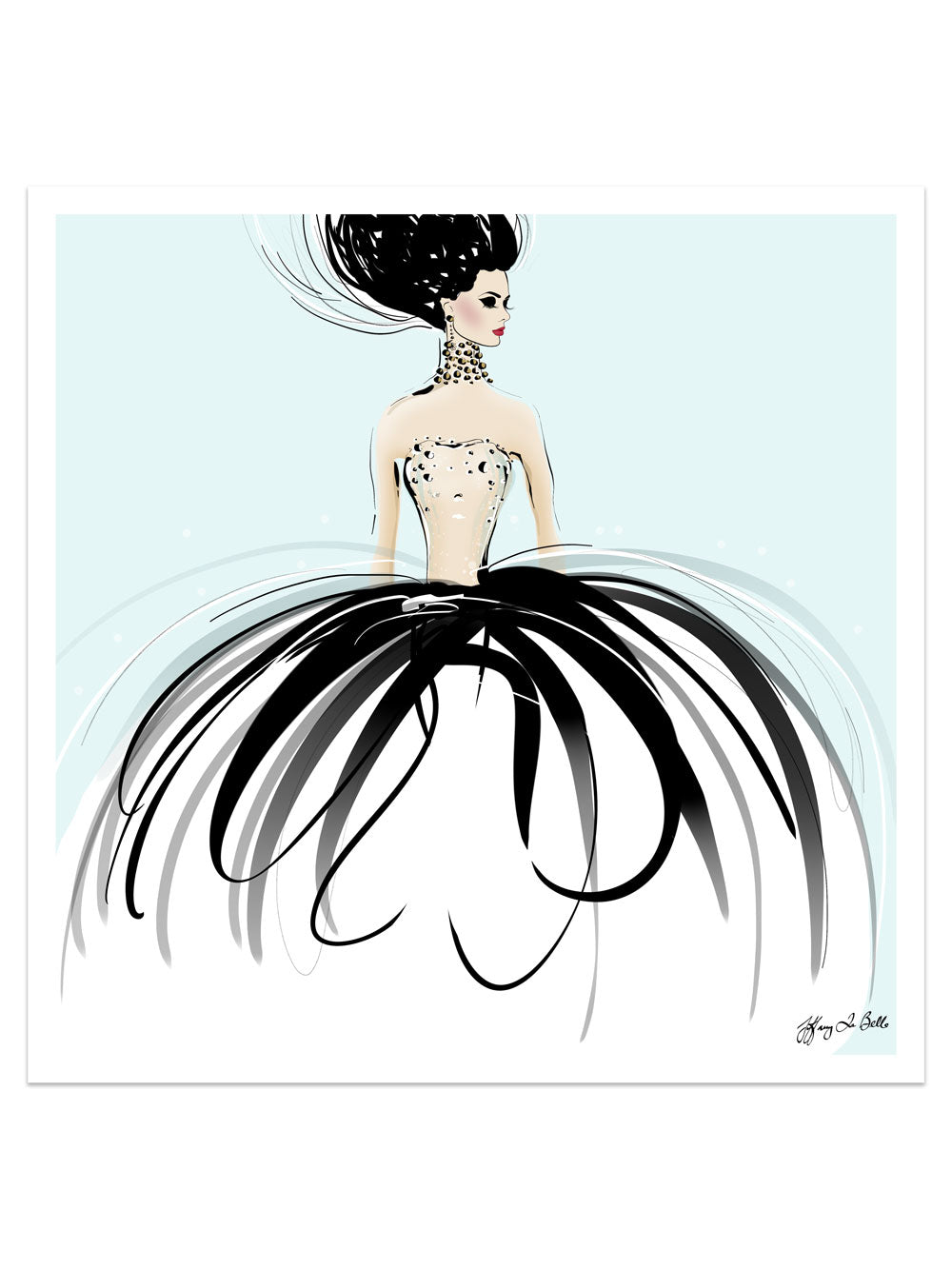 Couture Gems - Illustration - Limited Edition Print - Tiffany La Belle