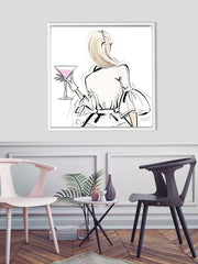 Dior Cocktails - Illustration - Canvas Gallery Print - Unframed or Framed - Tiffany La Belle