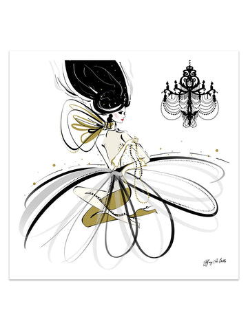 For the Love of Pearls - Illustration - Limited Edition Print - Tiffany La Belle