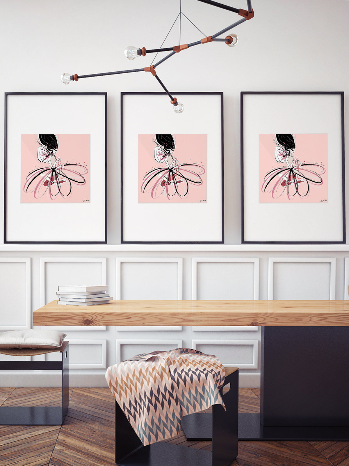 For the Love of Pearls in Pink - Illustration - Limited Edition Print - Tiffany La Belle