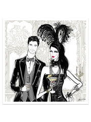 Friday Extravaganza - Illustration - Limited Edition Print - Tiffany La Belle