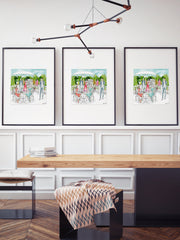 Garden Party - Illustration - Limited Edition Print - Tiffany La Belle