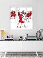 Giambattista Valli Paris - Illustration - Canvas Gallery Print - Unframed or Framed - Tiffany La Belle