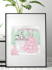 Giambattista Valli Cocktail Couture - Illustration - Limited Edition Print - Tiffany La Belle