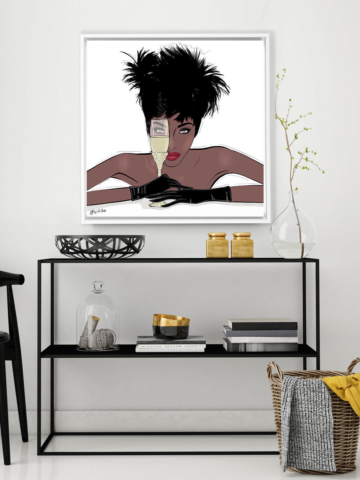 I See You - Illustration - Canvas Gallery Print - Unframed or Framed - Tiffany La Belle