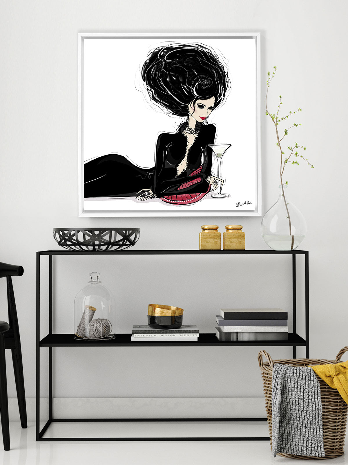 Martini Moments - Illustration - Canvas Gallery Print - Unframed or Framed - Tiffany La Belle
