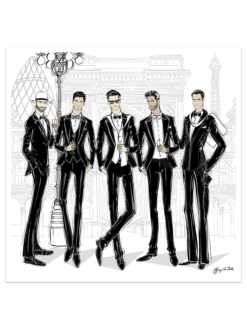 Mens Fashion Week - Illustration - Limited Edition Print - Tiffany La Belle