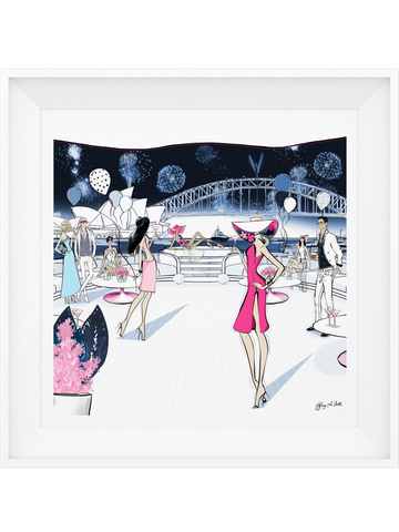 NYE, Sydney, Australia - Illustration - Limited Edition Print - Tiffany La Belle