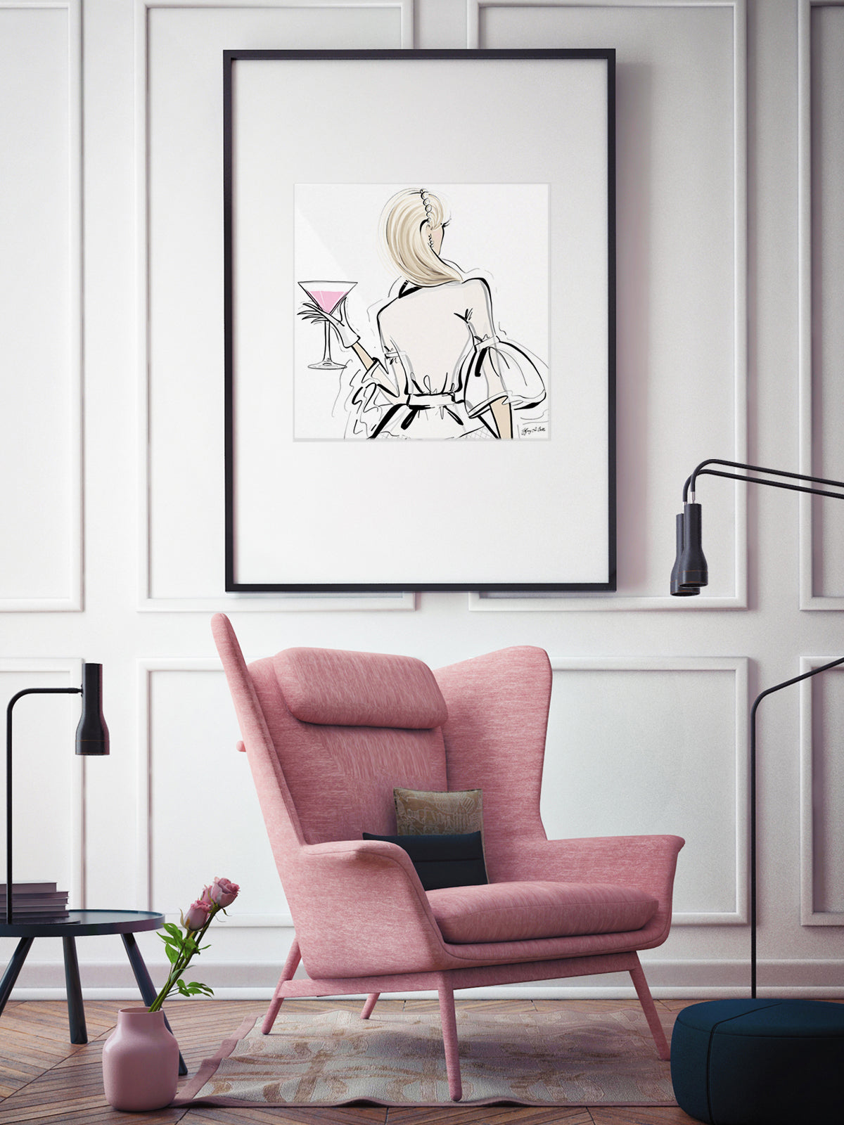 Dior Cocktails - Illustration - Limited Edition Print - Tiffany La Belle