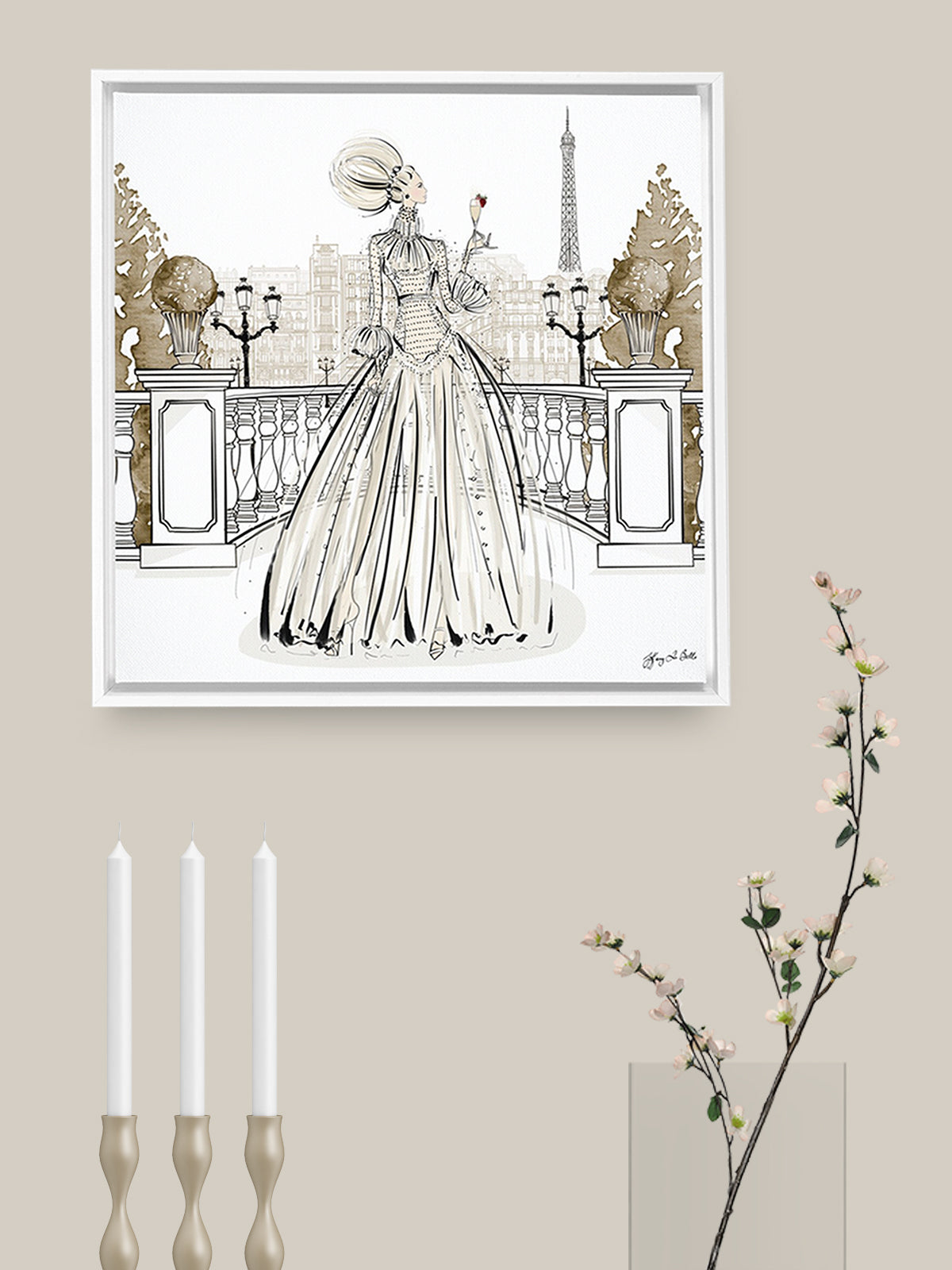 Paris Fashion Week Haute Couture - Illustration - Canvas Gallery Print - Unframed or Framed - Tiffany La Belle