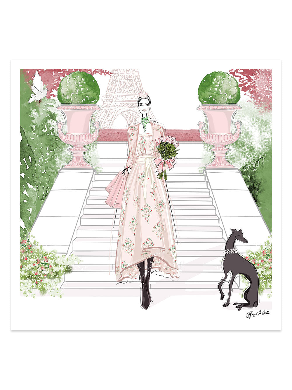 Parisienne Floral - Illustration - Limited Edition Print - Tiffany La Belle
