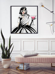 Pugs and Pink Drinks - Illustration - Limited Edition Print - Tiffany La Belle