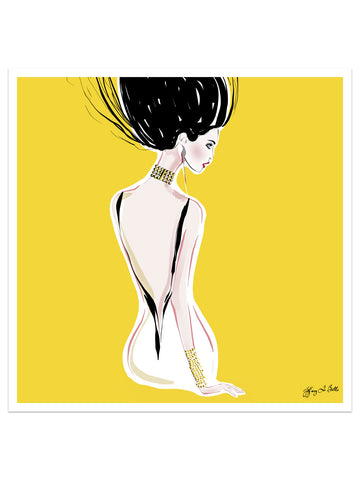 Quite Shy - Illustration - Limited Edition Print - Tiffany La Belle