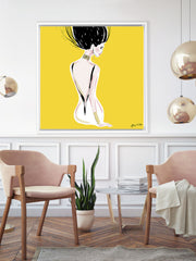 Quite Shy - Illustration - Canvas Gallery Print - Unframed or Framed