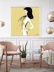She's All Style - Illustration - Canvas Gallery Print - Unframed or Framed