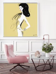 She's All Style - Illustration - Canvas Gallery Print - Unframed or Framed - Tiffany La Belle