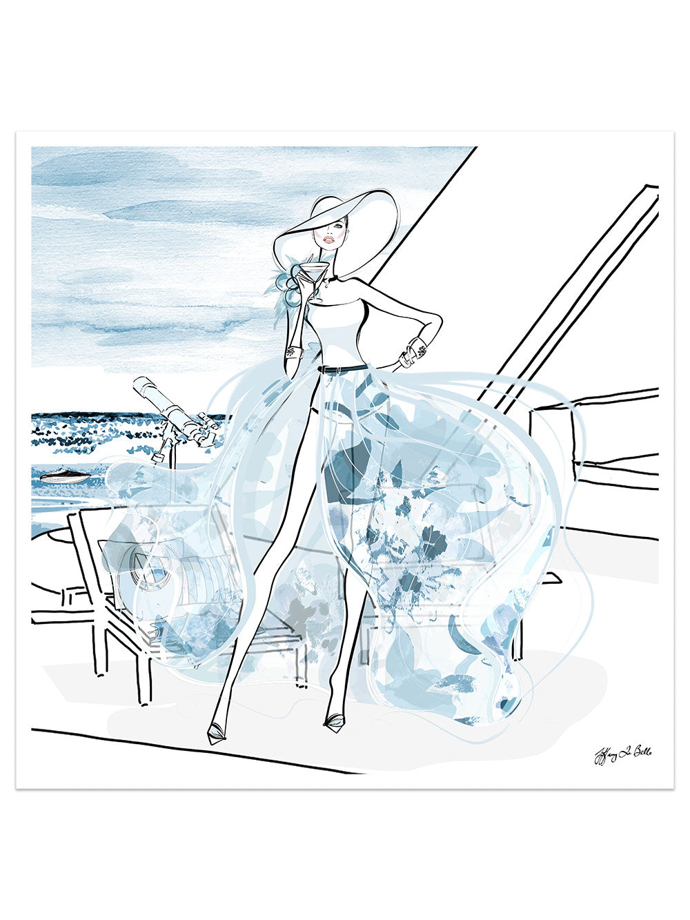 Summer is Coming - Illustration - Limited Edition Print - Tiffany La Belle