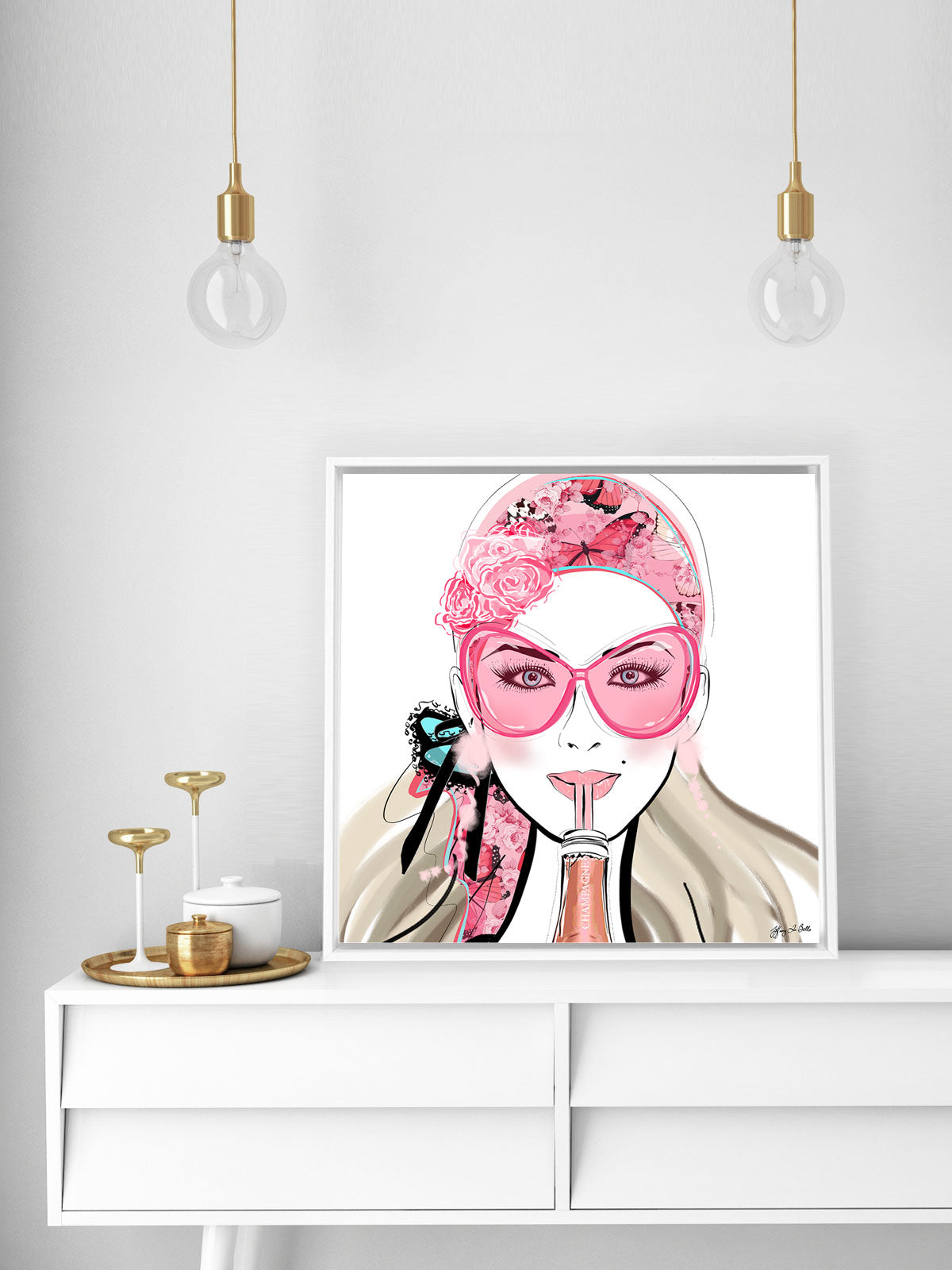 Who Needs a Glass? - Illustration - Canvas Gallery Print - Unframed or Framed