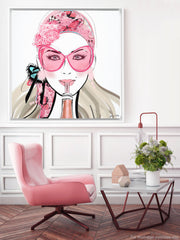 Who Needs a Glass? - Illustration - Canvas Gallery Print - Unframed or Framed - Tiffany La Belle