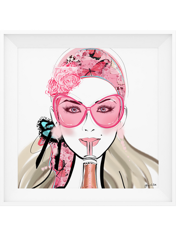 Who Needs a Glass? - Illustration - Limited Edition Print - Tiffany La Belle