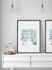 Young Lovers - Illustration - Limited Edition Print - Tiffany La Belle