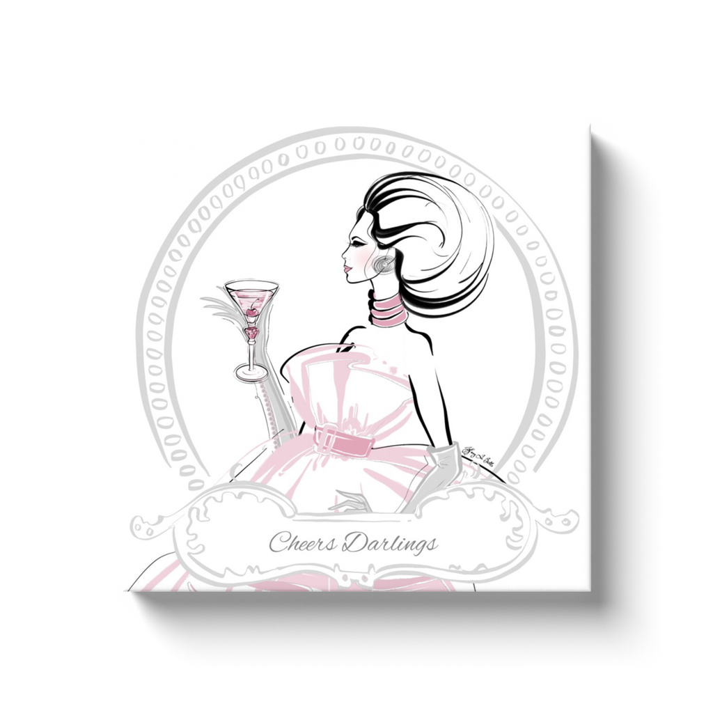 Cheers Darlings - Illustration - Canvas Gallery Print - Unframed or Framed - Tiffany La Belle