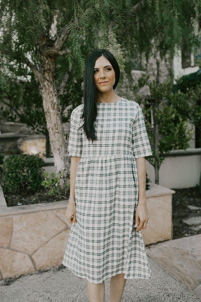 It's All About The Plaid Midi Dress