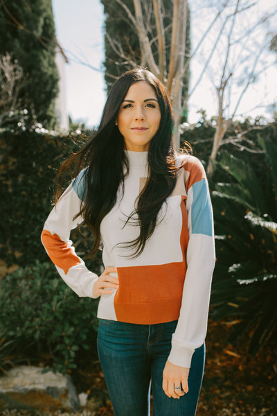 The Anika Color Block Sweater