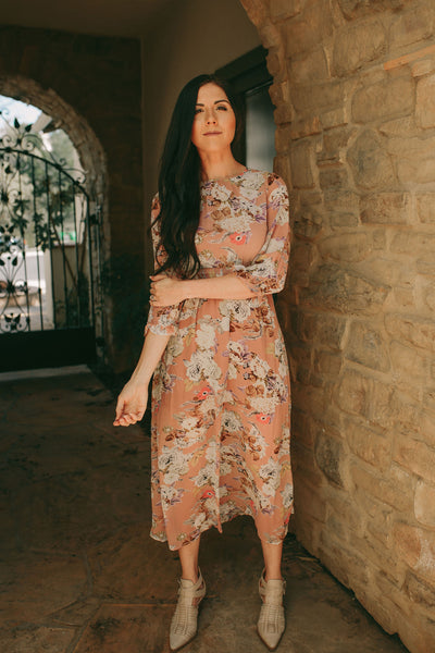 Soft Floral Maxi Dress - Pink Nectar