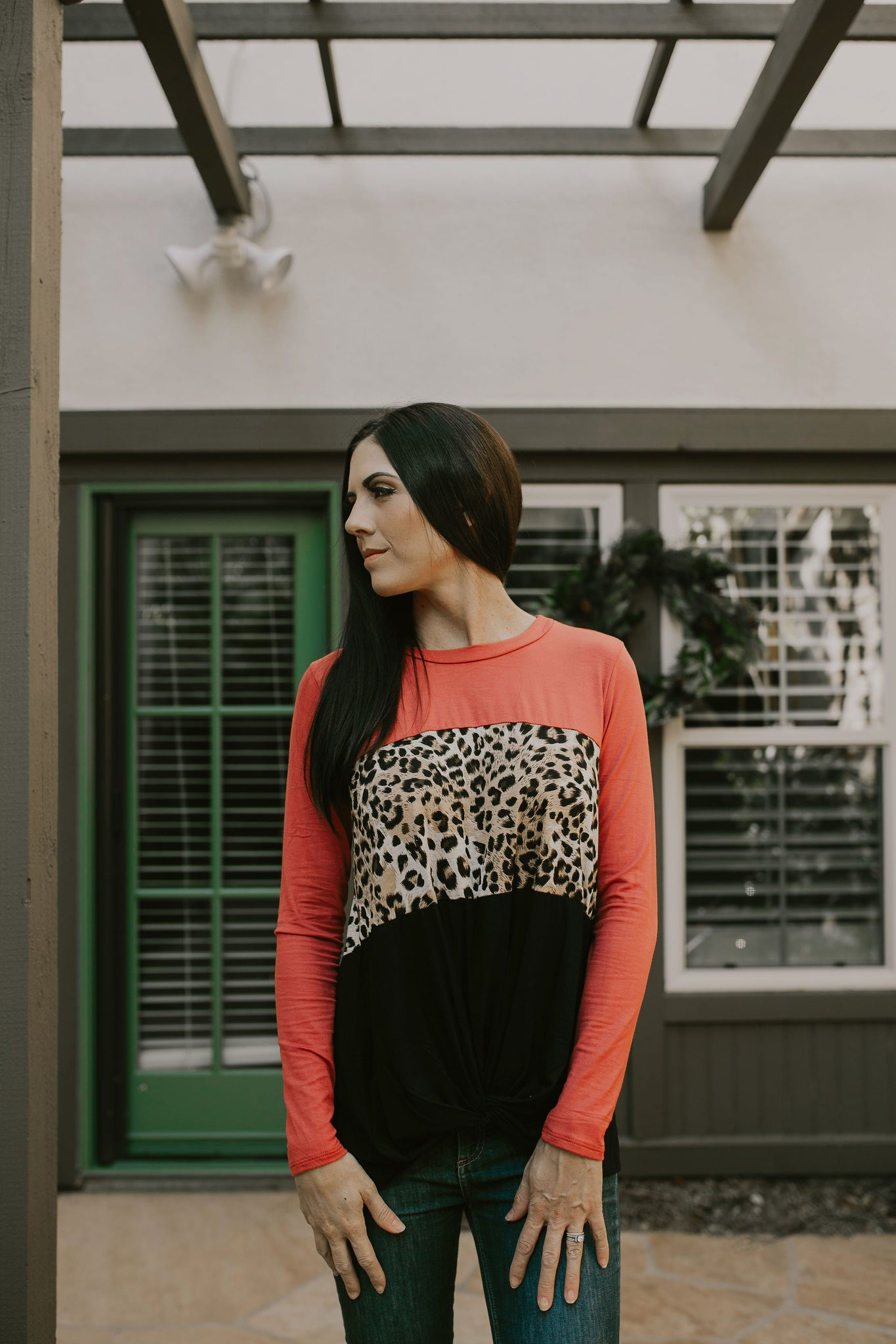 The Charlie Color Block Top