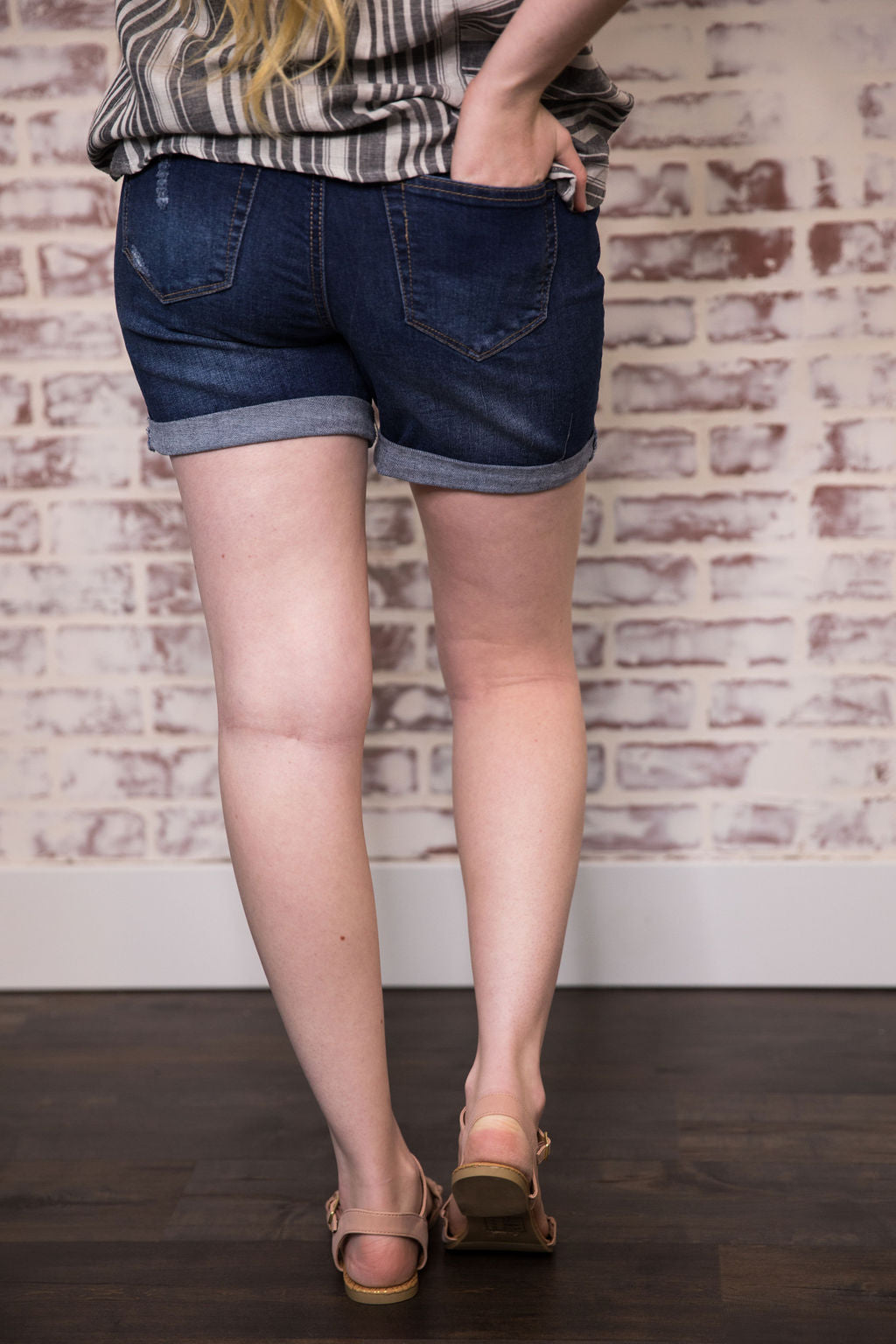 Claire Denim Shorts (Dark)