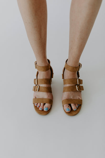 Lucille Strappy Heel - Camel