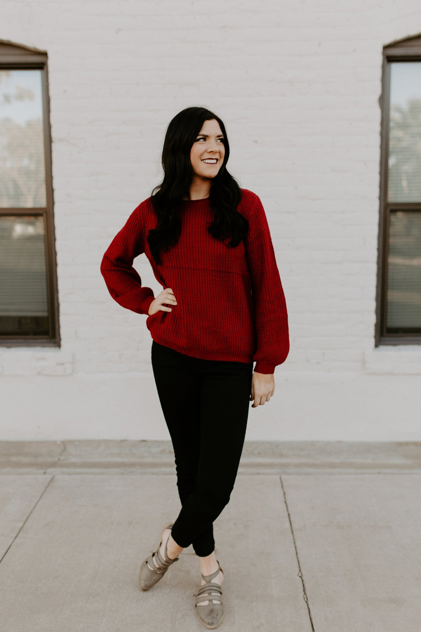 Sweetheart Sweater - Red
