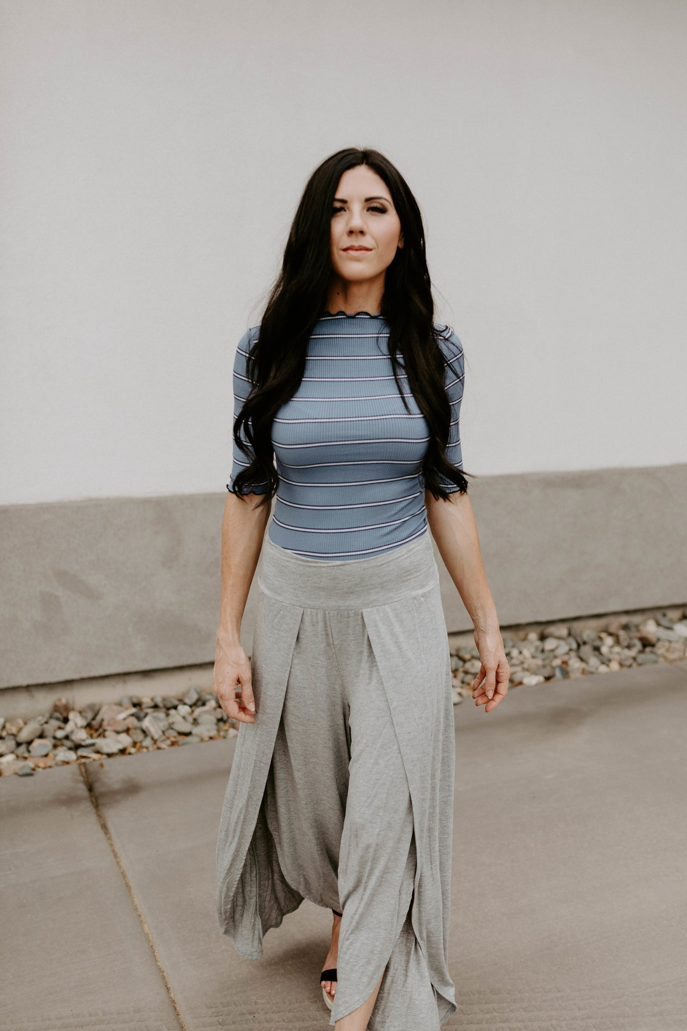 The Tulip Pant - Heather Grey