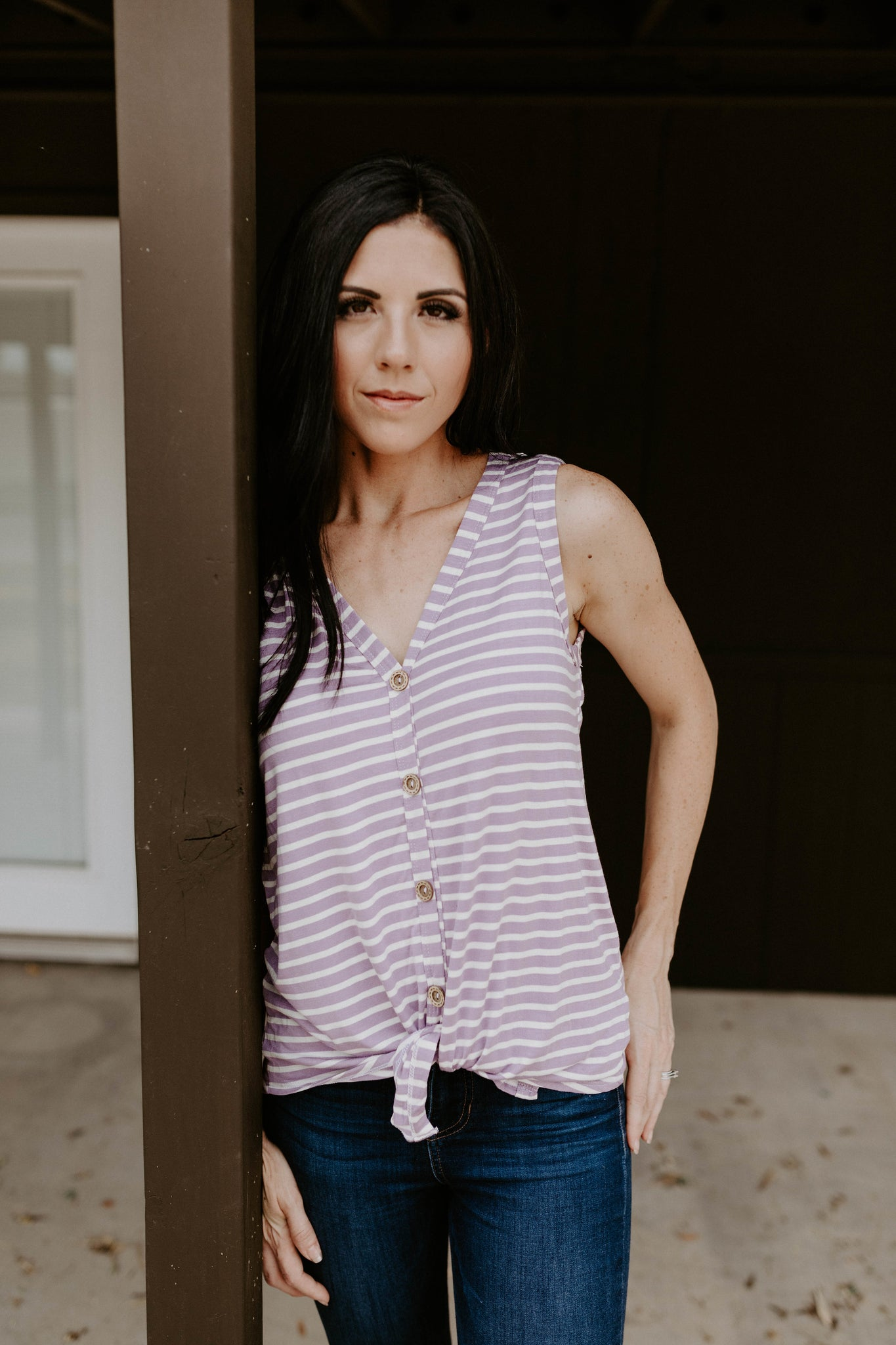 The Darla Button Up Tank