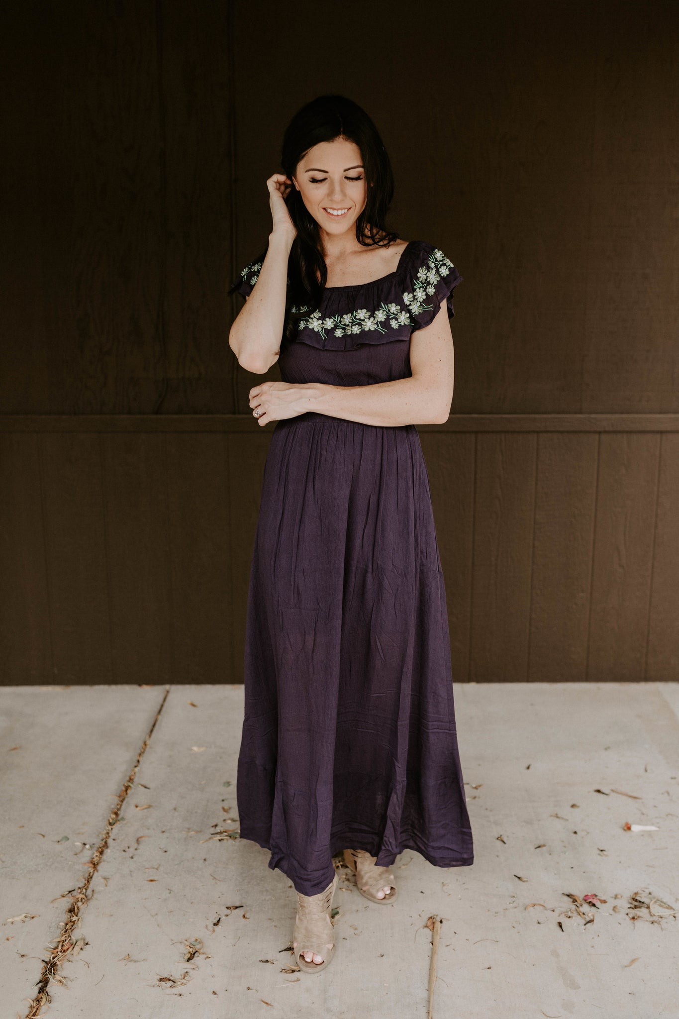The Elaina Maxi Dress - Navy
