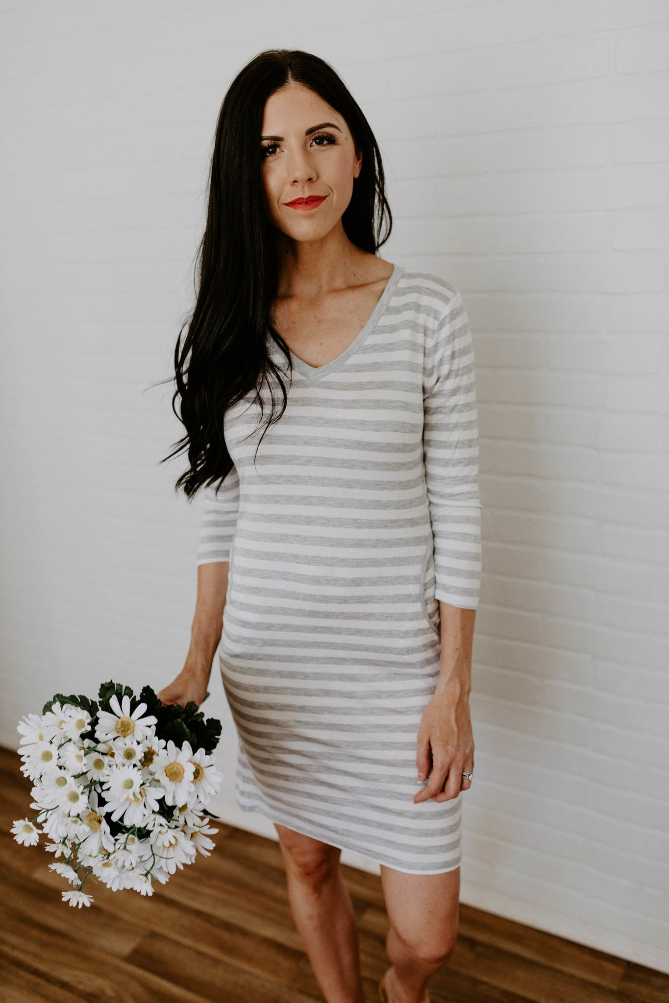 Everyday Summer Dress with pockets - H. Grey