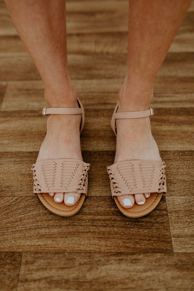 Double Braid Archer Sandal - Blush