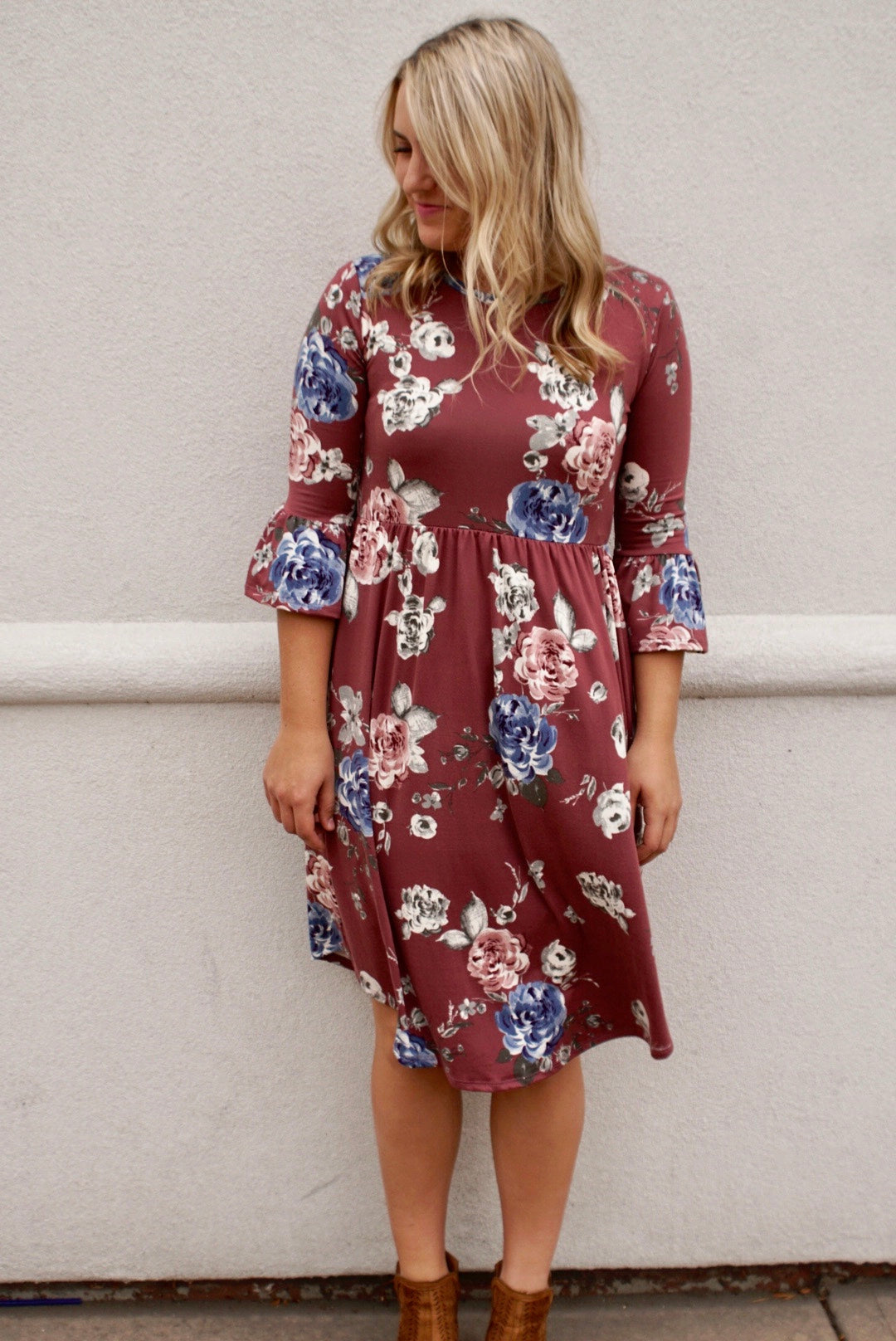 The Emily Dress in Taupe
