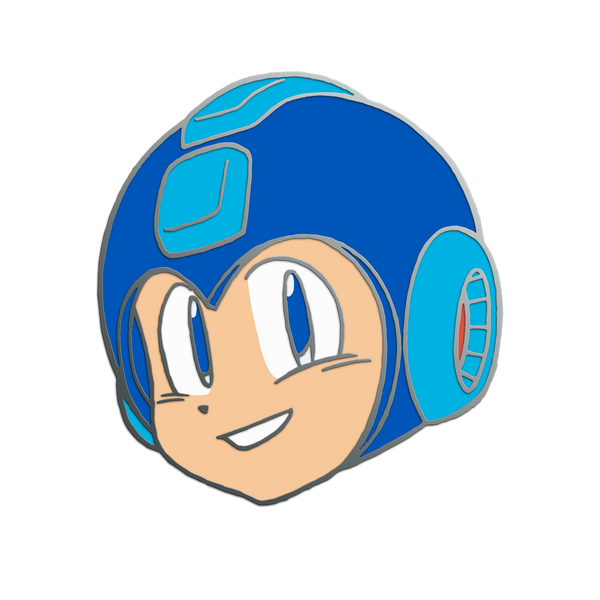 Mega Man Head Pin
